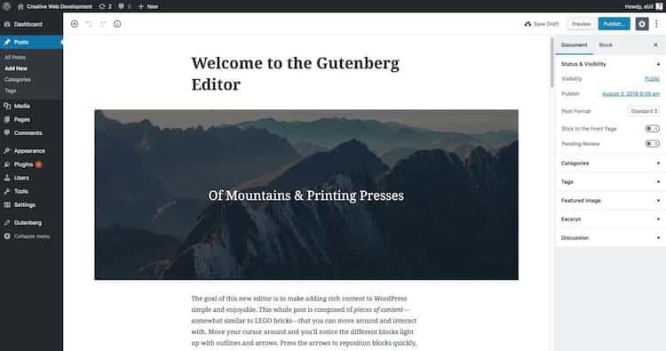Gutenberg, berkarya lebih mudah dan menarik