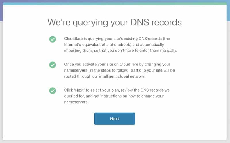 CloudFlare cuba mendapatkan senarai DNS yang sedia ada